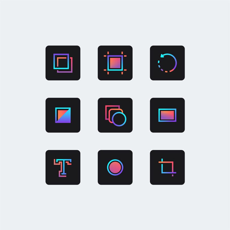 Gradient trong thiết kế icon