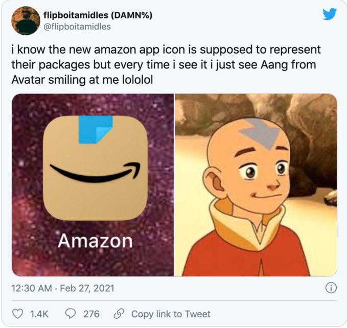 logo mới của Amazon
