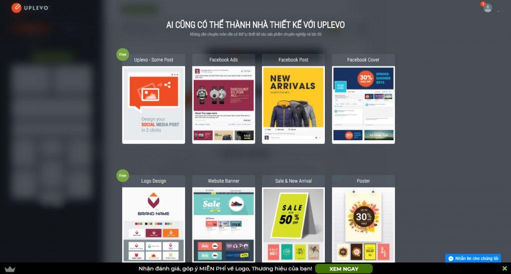 Uplevo - Phần mềm thiết kế Banner quảng cáo