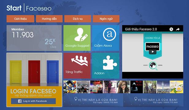 Tăng Traffic cho Website với Tools Faceseo.vn