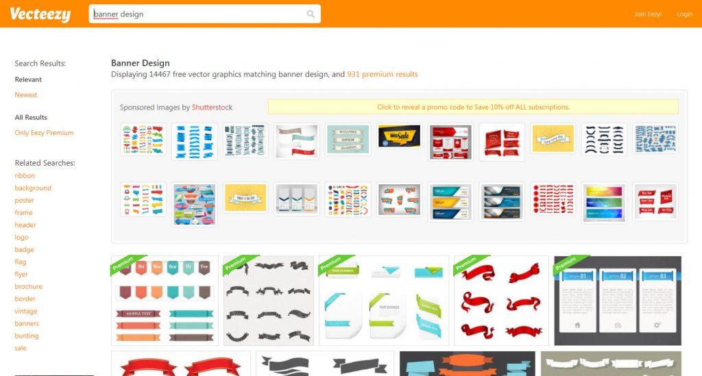 Tạo Banner Online bằng Vecteezy